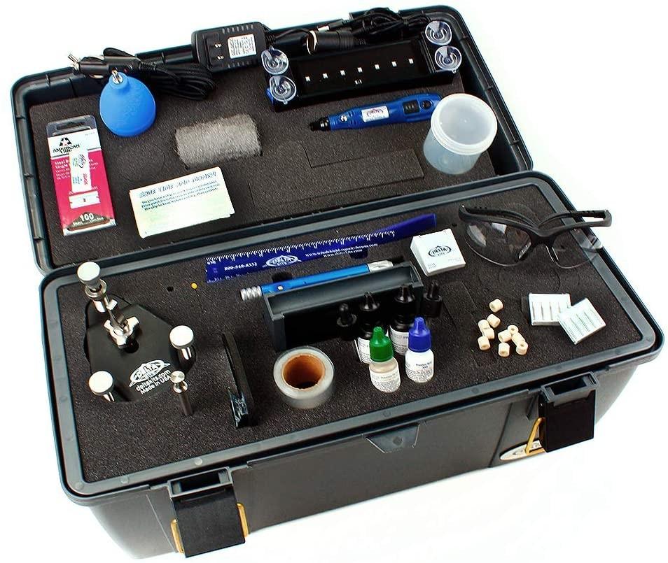 Delta Kits EZ-350S Mobile Pro Plus Windshield Repair System, Cordless UV Lamp